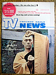 Tv News - February 3-9, 1973 - David Carradine