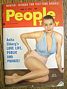 People Today Magazine-june 13, 1956-anita Ekberg