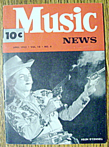 Music News Magazine-april 1952-helen O'connell