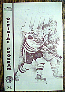 Chicago Blackhawks Program - 1967-1968