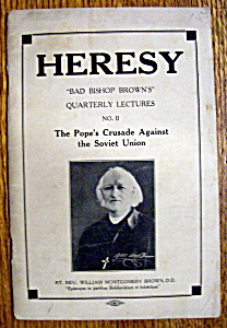 Heresy - January 1931 - Pope's Crusade Against Soviet