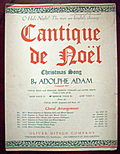 Sheet Music Of 1900 Cantique De Noel