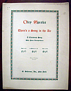 Sheet Music Of 1916 There's A Song In The Air