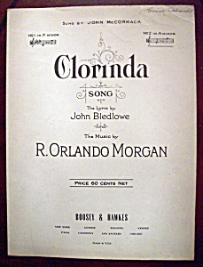Sheet Music Of 1923 Clorinda