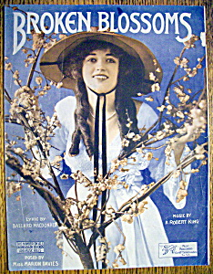 Sheet Music-1919 Broken Blossoms-marion Davies Cover