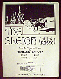 Sheet Music Of 1926 The Sleigh (A La Russe)