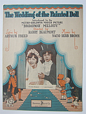 Sheet Music For 1929 The Wedding Of The Painted Doll