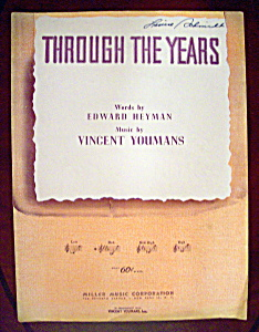 Sheet Music Of 1931 Through The Years