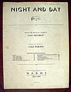 Sheet Music Of 1932 Night And Day
