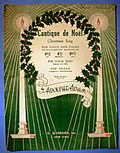 Sheet Music For 1935 Cantique De Noel