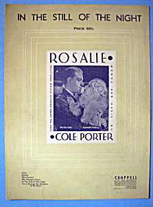 Sheet Music For 1937 In The Still Of The Night