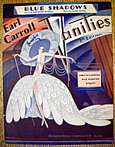 Sheet Music For 1928 Blue Shadows