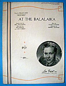 Sheet Music For 1939 At The Balalaika (Image1)