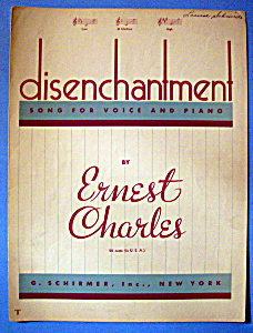 Sheet Music Of 1940 Disenchantment