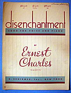 Sheet Music Of 1940 Disenchantment (Image1)
