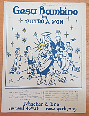 Sheet Music Of 1945 Gesu Bambino
