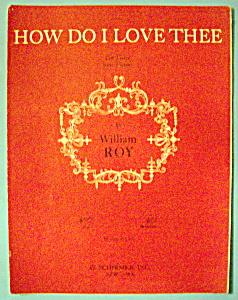 Sheet Music For 1948 How Do I Love Thee