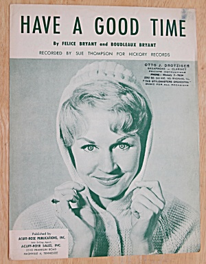 1952 Have A Good Time Sheet Music (Sue Thompson Cover) (Image1)
