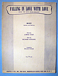 Sheet Music For 1951 Falling In Love With Love