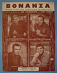 Sheet Music For 1959 Bonanza