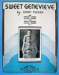 Sheet Music For 1935 Sweet Genevieve