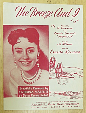 Sheet Music For 1928 The Breeze And I