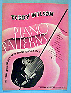Sheet Music For 1939 Teddy Wilson Piano Patterns