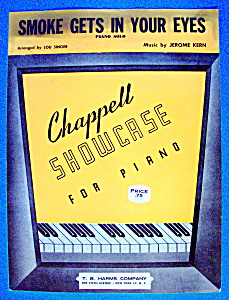 Sheet Music For 1949 Smoke Gets In Your Eyes