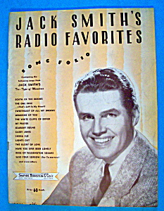 Sheet Music For 1939 Jack Smith's Radio Favorites