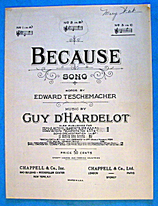 Sheet Music For 1902 Because