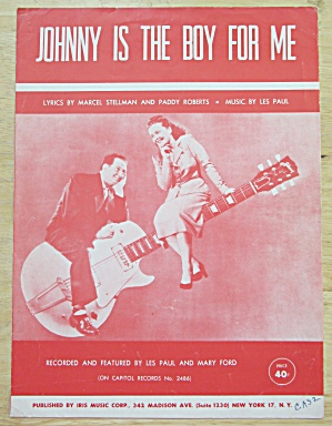 1953 Johnny Is The Boy For Me Sheet Music  (Image1)