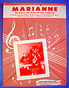 Sheet Music For 1955 Marianne