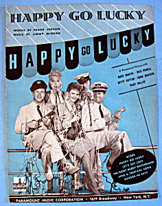 Sheet Music For 1943 Happy Go Lucky