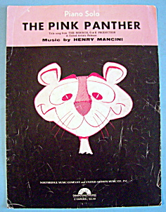 Sheet Music For 1963 The Pink Panther