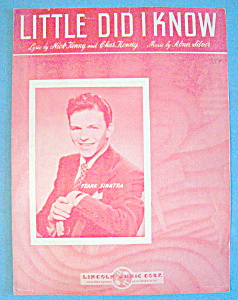 Sheet Music For 1943 Little Did I Know