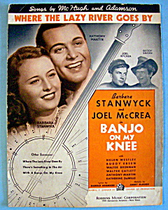 Sheet Music For 1936 Where The Lazy River Goes By (Image1)