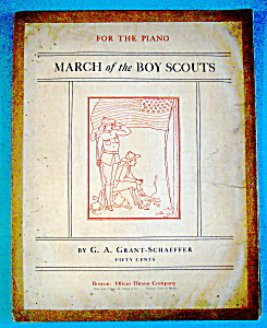 Sheet Music For 1913 March Of The Boy Scouts