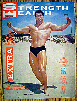 Strength & Health Magazine-january 1966-ken Mccord