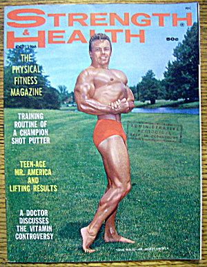 Strength & Health Magazine-april 1966-billy Parker