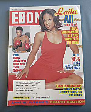 Ebony Magazine - October 2001 - Laila Ali