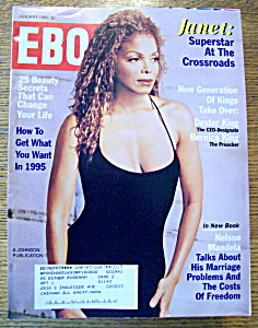 Ebony Magazine - January 1995 - Janet Jackson
