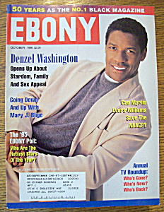 Ebony Magazine-october 1995-denzel Washington