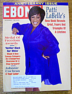 Ebony Magazine - November 1996 - Patti Labelle