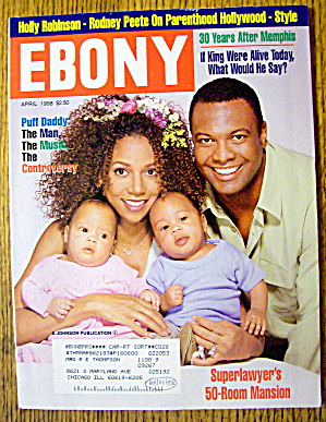 Ebony Magazine-april 1998-holly Robinson