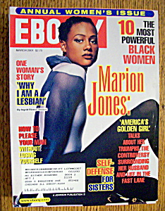 Ebony Magazine - March 2001 - Marion Jones