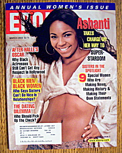 Ebony Magazine - March 2003 - Ashanti