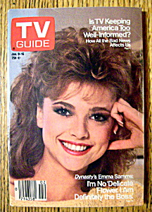 Tv Guide January 9-15, 1988 Emma Samms