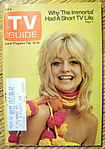 Tv Guide-february 13-19, 1971-goldie Hawn