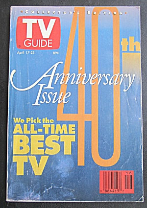 Tv Guide April 17-23, 1993 40th Anniversary