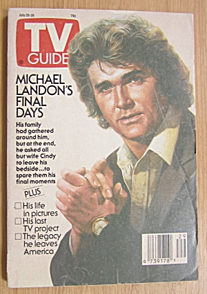 Tv Guide July 20-26, 1991 Michael Landon's Final Days